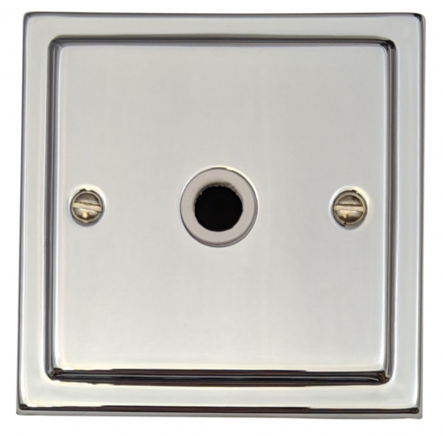 G&H TC79W Trimline Plate Polished Chrome 1 Gang Flex Outlet Plate